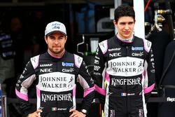 Sergio Perez, Sahara Force India F1; Esteban Ocon, Sahara Force India F1