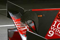 Detail Heckflügel, #8 Audi Sport Team Joest Audi R18