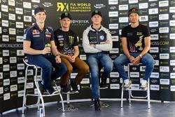 Timmy Hansen, Team Peugeot-Hansen, Peugeot 208 WRX; Andreas Bakkerud, Hoonigan Racing Division, Ford