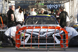 The car of Michael Waltrip, Premium Motorsports Toyota goes through tech inspection