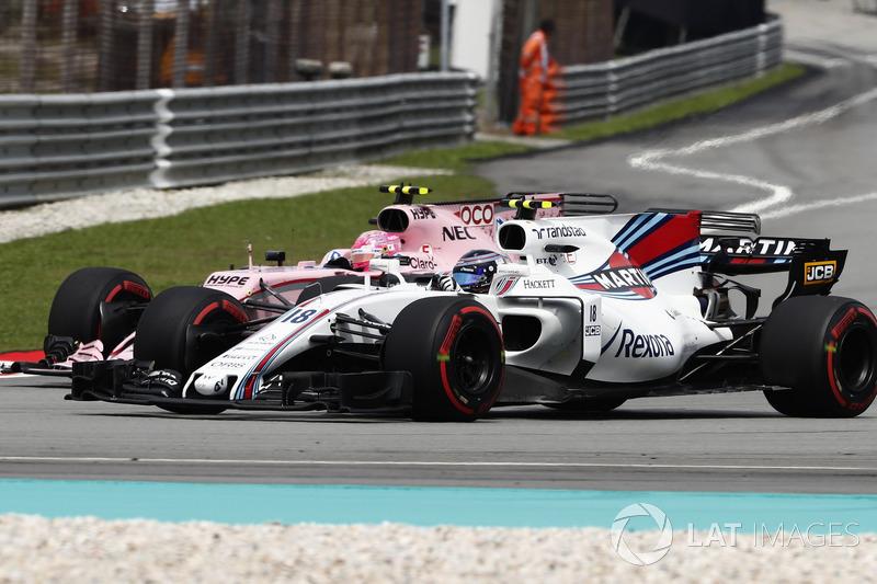 Ленс Стролл, Williams FW40, Естебан Окон, Sahara Force India F1 VJM10