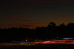 Trailing lights at dusk
