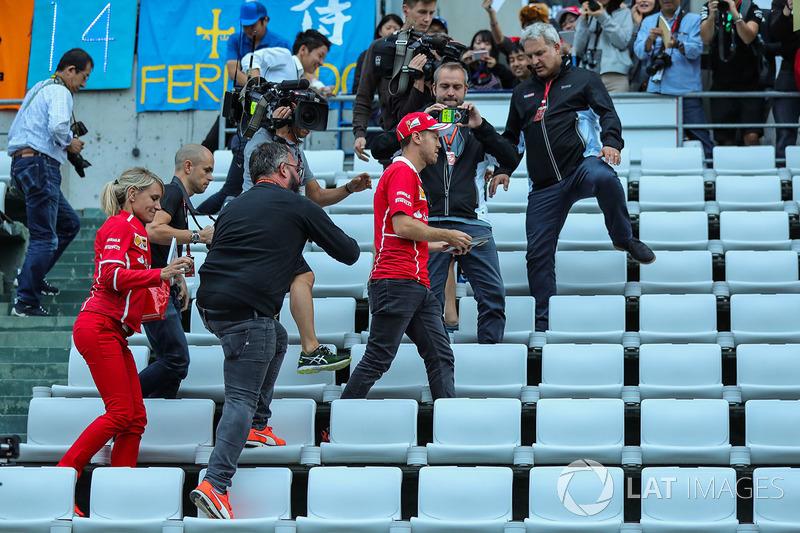 Sebastian Vettel, Ferrari and fans