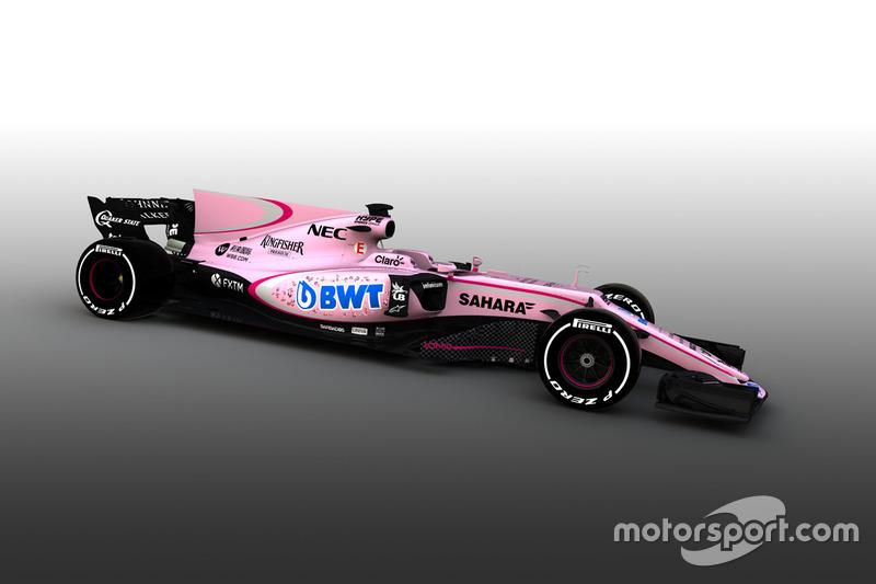 Der Force India für die F1-Saison 2017 hat in puncto Design einige Vorfahren