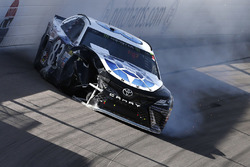 Corey LaJoie, BK Racing Toyota crash