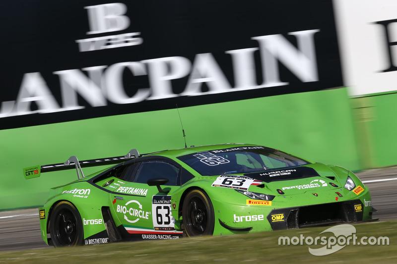 #63 GRT Grasser Racing Team, Lamborghini Huracan GT3: Mirko Bortolotti, Christian Engelhart, Andrea Caldarelli