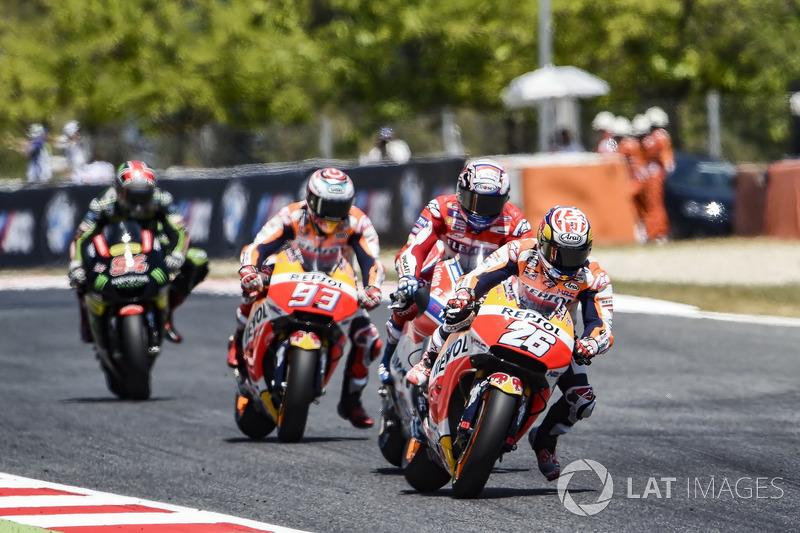 Bataille en tête entre les pilotes Honda et Andrea Dovizioso