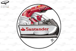 Ferrari SF70H ala delantera tapa, GP de Bélgica