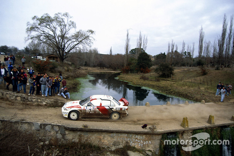 Tommi Makinen, Seppo Harjanne, Ralliart Mitsubishi Lancer Evo3