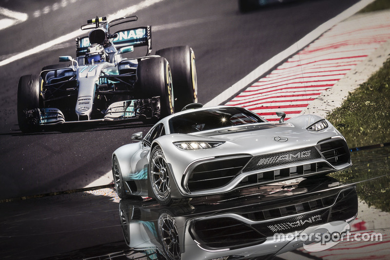 Showcar Mercedes-AMG Project ONE and the Mercedes AMG F1 W08