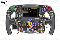 Ferrari SF70H steering wheel, captioned