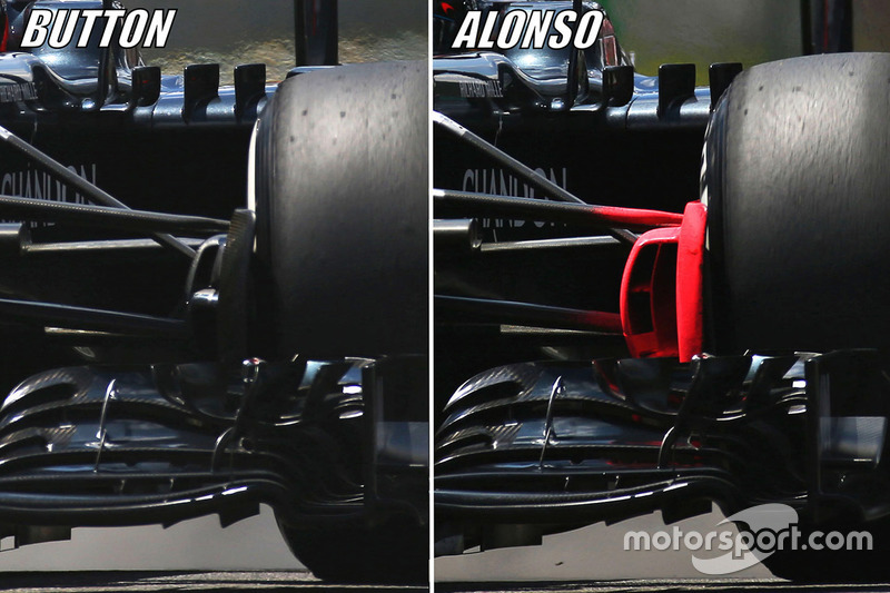 Vergleich: Jenson Button, McLaren MP4-31 vs. Fernando Alonso, McLaren MP4-31