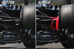 Jenson Button, McLaren MP4-31, Fernando Alonso, McLaren MP4-31 comparison