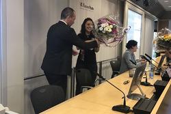 Sharon Scolari presso BancaStato a Bellinzona