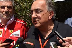 Maurizio Arrivabene, Team Principal Scuderia Ferrari, Sergio Marchionne, Presidente Ferrari e CEO di Fiat Chrysler Automobiles