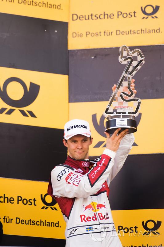Подіум: друге місце  Маттіас Екстрьом, Audi Sport Team Abt Sportsline, Audi A5 DTM