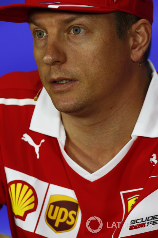 Kimi Raikkonen, Ferrari, in the FIA press conference