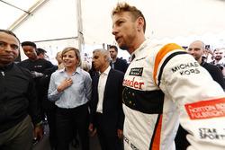Sadiq Khan, Bürgermeister von London; Jenson Button, McLaren