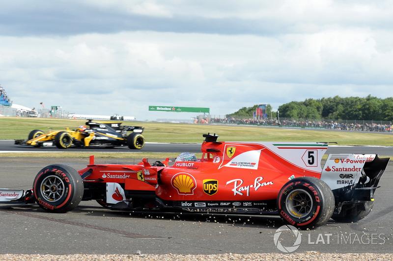 Себастьян Феттель, Ferrari SF70H, розворот