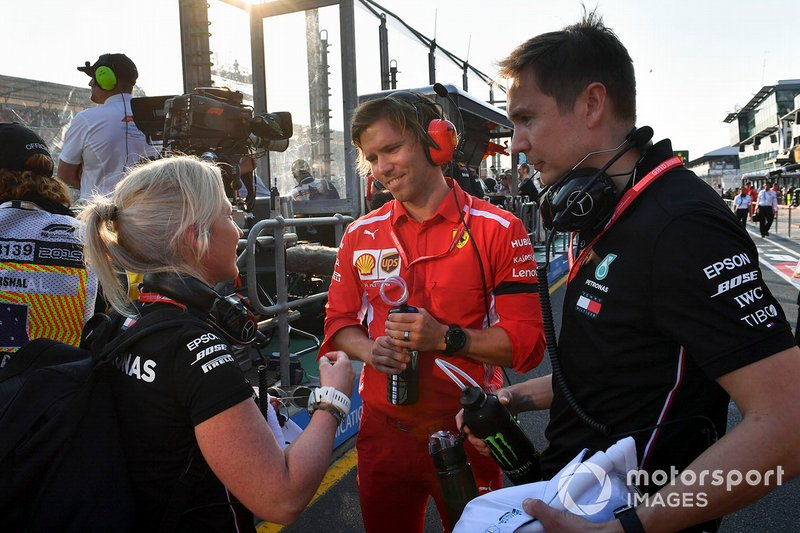 Miembros de Mercedes y Ferrari