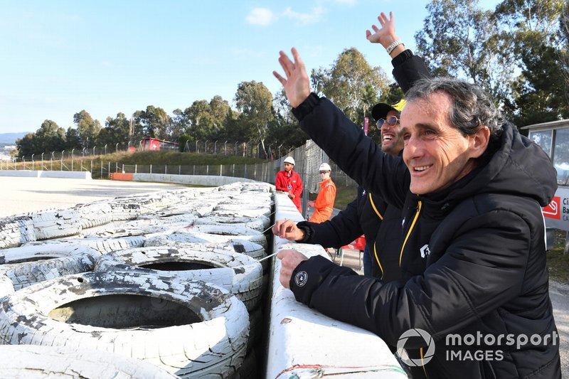 Daniel Ricciardo, Renault F1 Team ve Alain Prost, Renault F1 Team Danışmanı