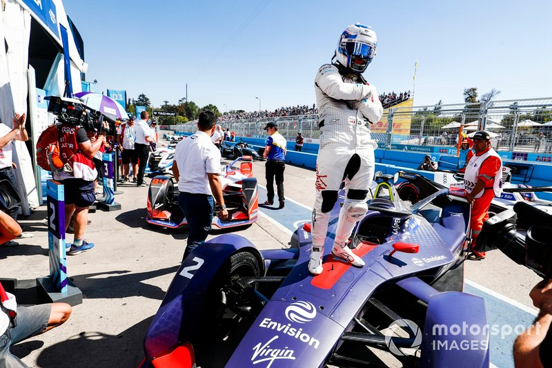 Il vincitore Sam Bird, Envision Virgin Racing, Audi e-tron FE05