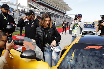Actress and Model Millie Bobby Brown gets a HotLaps ride with Lewis Hamilton, Mercedes AMG F1