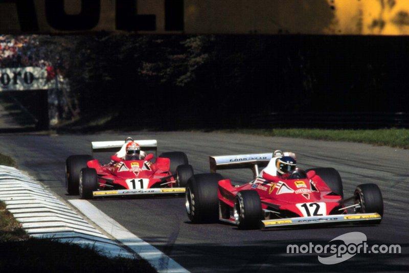 11: Niki Lauda e Carlos Reutemann (Ferrari)