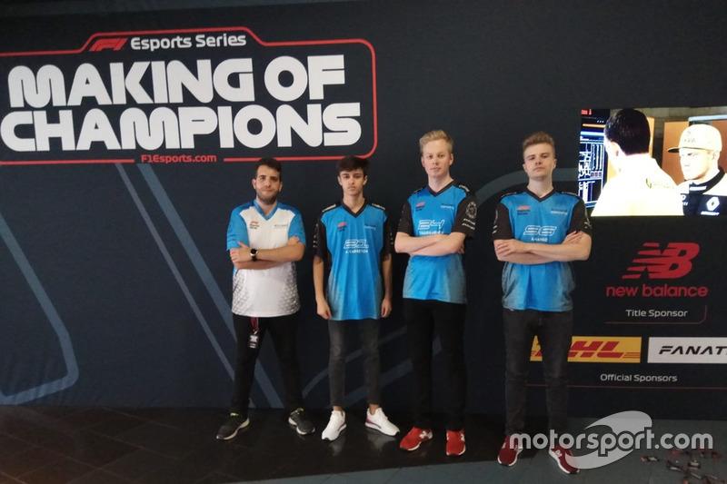El equipo Williams eSports de la F1 eSports Pro Series 2018