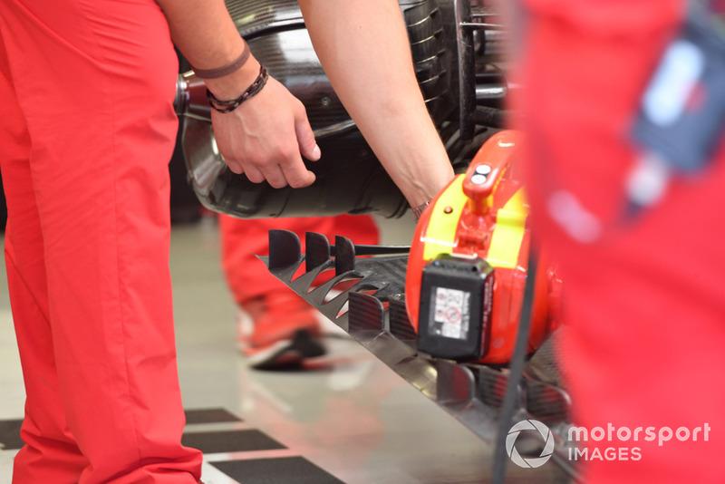 Ferrari SF-71H rear floor detail
