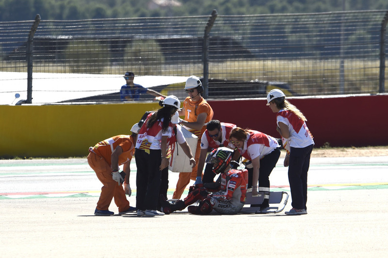 Jorge Lorenzo après sa chute