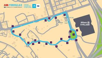 Le tracé du circuit Ad Diriyah