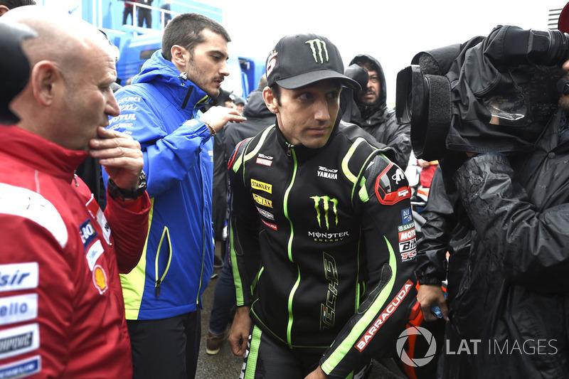 Johann Zarco, Monster Yamaha Tech 3, leaving Safety commission meeting