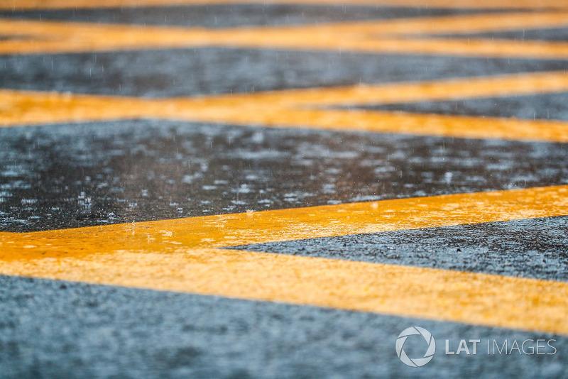 Hujan mengguyur Monza