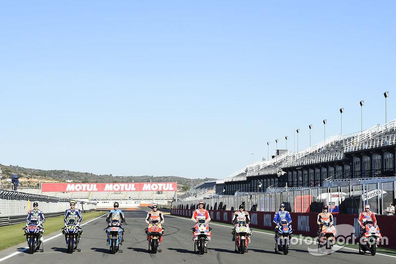 Дев'ять переможців: Хорхе Лоренсо, Yamaha Factory Racing, Валентино Россі, Yamaha Factory Racing, Дж
