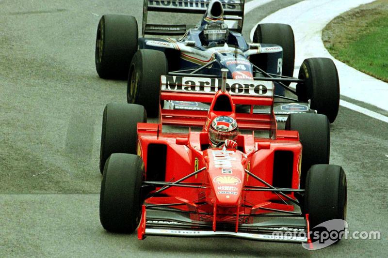 Michael Schumacher, Ferrari F310B y Heinz-Harald Frentzen, Williams FW19 Renault