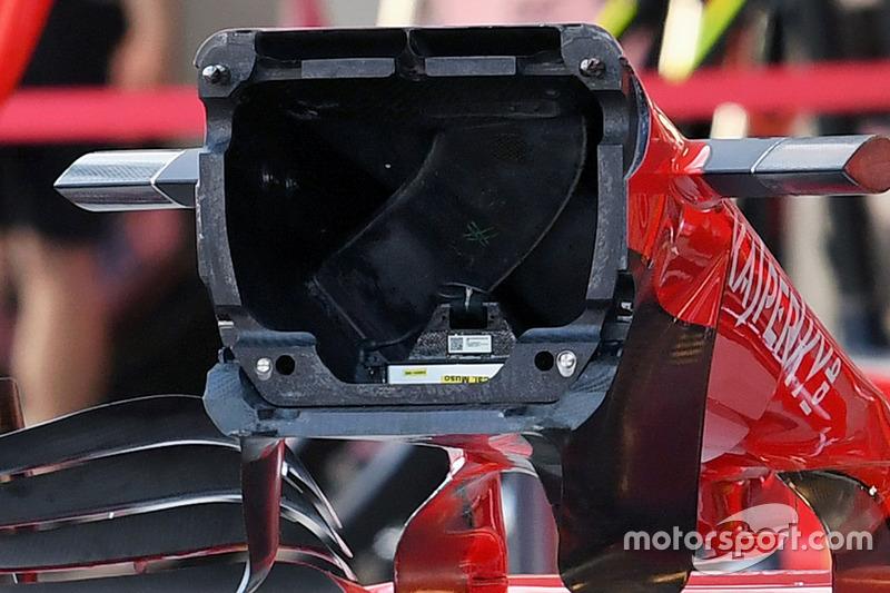 Ferrari SF70H detalle nariz