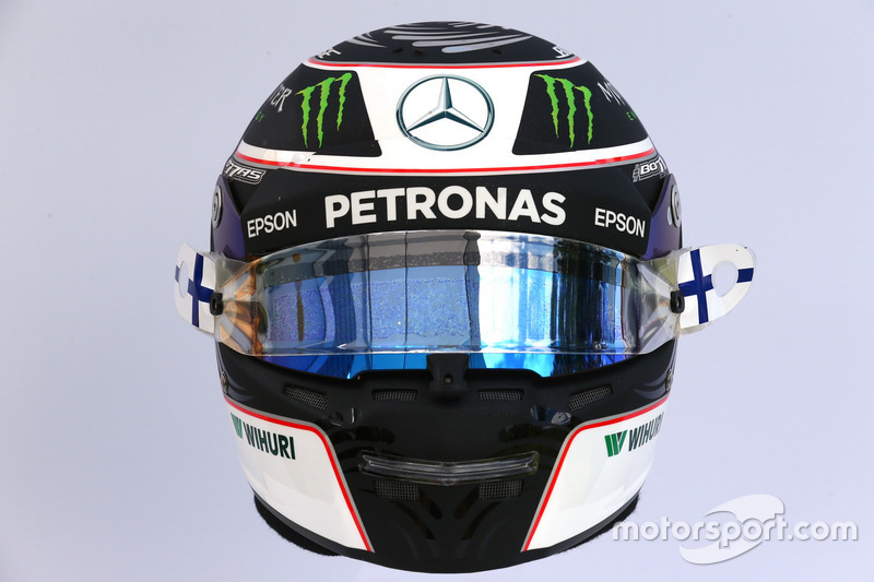 Le casque de Valtteri Bottas, Mercedes AMG F1 W08