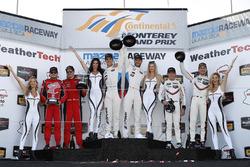 GTLM podium: winners John Edwards, Martin Tomczyk, BMW Team RLL, second place Toni Vilander, Giancarlo Fisichella, Risi Competizione, third place Patrick Pilet, Dirk Werner, Porsche Team