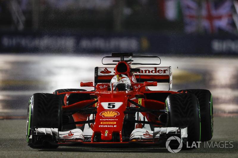 Sebastian Vettel, Ferrari SF70H, formasyon turunda