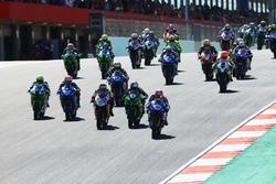 Start zum Supersport-Rennen