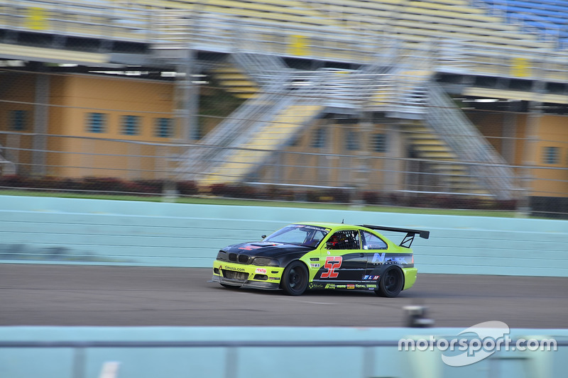 #52 MP2B BMW M3 driven by Pedro Rodriguez of TLM USA