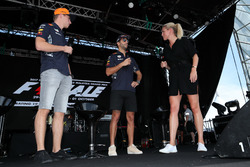 Max Verstappen, Red Bull Racing and Daniel Ricciardo, Red Bull Racing on stage