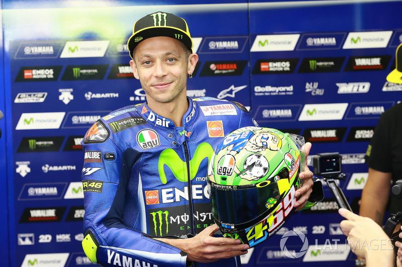 Valentino Rossi, Yamaha Factory Racing nuevo casco