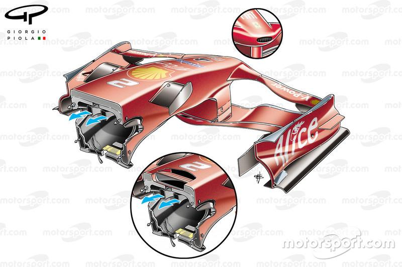 Ferrari F2008, nose back comparison