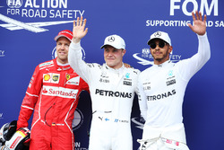 Sıralama turları ilk 3 Pole: Valtteri Bottas, Mercedes AMG F1, 2. Sebastian Vettel, Ferrari, 3. Lewis Hamilton, Mercedes AMG F1