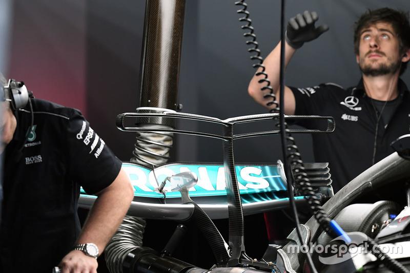Mercedes AMG F1 W08, T-Flügel, Detail