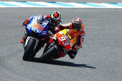 Marc Marquez, Repsol Hond et Jorge Lorenzo, Yamaha