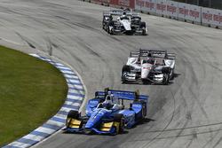 Scott Dixon, Chip Ganassi Racing, Honda; Will Power, Team Penske, Chevrolet
