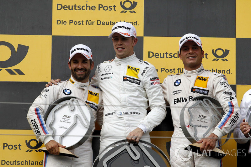 Podium: 1. Paul Di Resta, Mercedes-AMG Team HWA, Mercedes-AMG C63 DTM, 2. Timo Glock, BMW Team RMG, BMW M4 DTM, 3. Bruno Spengler, BMW Team RBM, BMW M4 DTM